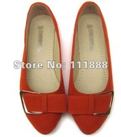 New super bowknot suede shallow mouth pointed a woman single accomplishment shoes