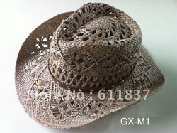 Fashion straw hats,cowboy hat,GX-M1(China (Mainland))