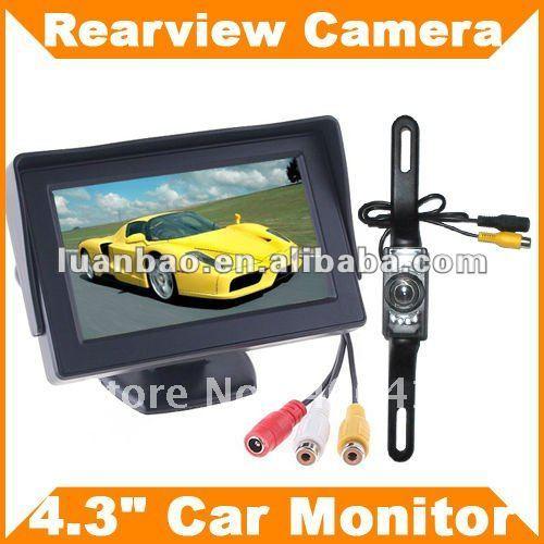 "Car Wireless Reversing Camera Kit 4.3 Inch Back Up LCD 4.3"" Digital TFT LCD Car View Monitor + Wireless Reversing Camera(China (Mainland))"