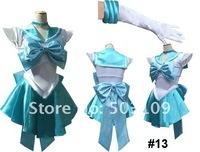 Sailor Moon Sailor Mercury Amy cosplay costume #13 short skirt freeshipping