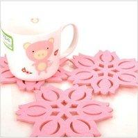 Fashion creative felt coasters (lotus) shape coasters