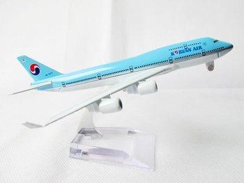 Free Shipping 1:400 Korean Air B747-4B5 Air Plane W Reg HL7477 Airline Aircraft Model