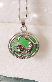 Natural Malay Jade necklace dragon pendant