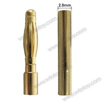 50 sets 2.0mm 2mm Gold Bullet Connector for RC battery 12539
