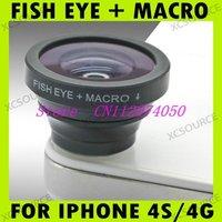 Hot Selling Black Fisheye Macro Detachable Lens 9.5mm Camera 0.67x for Apple iPhone 4 5 4S DC123B