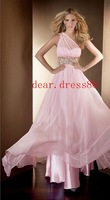 2012 New Pink Pearl A-line dress pageant Brautjungfe