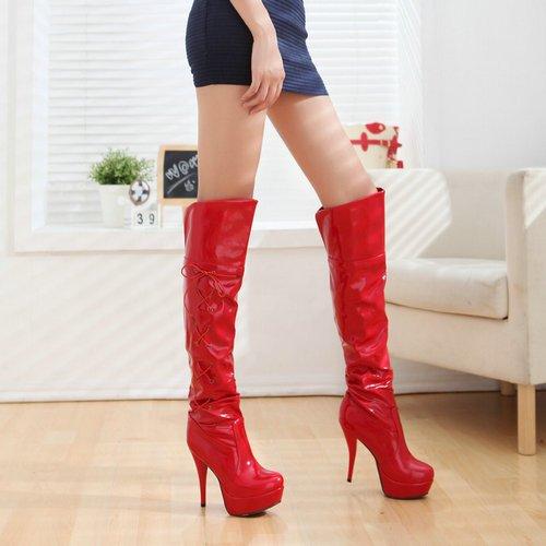Sexy Red Platform Heels | Tsaa Heel