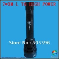 TrustFire TR-J18 7*CREE XM-L T6 High Power LED Flashlight with Extension Tube