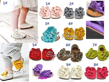 NEWEST baby flower shoes/ toddler soft prewalker/ can choose color and quantity, can wholesale+EMS/DHL free shipping