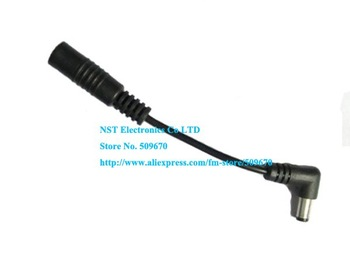 Free Shipping/ 100pcs/  Short DC 5.5x2.1 Male Plug 90 Degree Right Angle to Female Extension Cable Cord