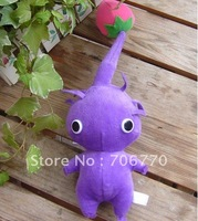 New Lots of 10PCS Pikmin Purple with Bud Plush Figure Doll Toy Free Shipping