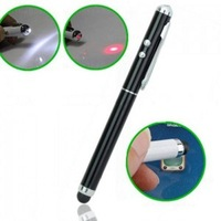 3 in 1 Laser Pointer LED Light Stylus Pen Touch Pen For iPhone 6 5S iPad 3 4 5.