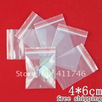 "500pcs/lot  small ziplock bags  ""SPECIAL DEAL"" LIMITED TIME STOCK UP NOW! 4cmx6cm"