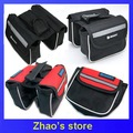 Bike bag bicycle front bag black/red/blue optional  50pcs/lot
