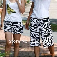 2014 Rushed New Arrival Bermuda Masculina The Price Of Two Zebra-stripe Couple Beach Shorts Of Style In Stock Good Quality