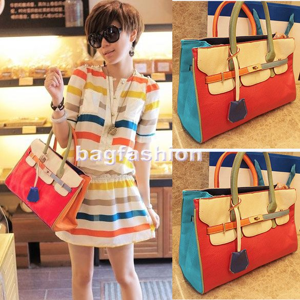 Korean Style Weave bag Lady Women Hobo Purse Handbag Tote Bag PU Shoulder Fantastic 5100
