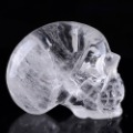 Free shipping!3''Natural Clear Rock Crystal Quartz Skulls/Skeletons/Bones Group Carving #4F40