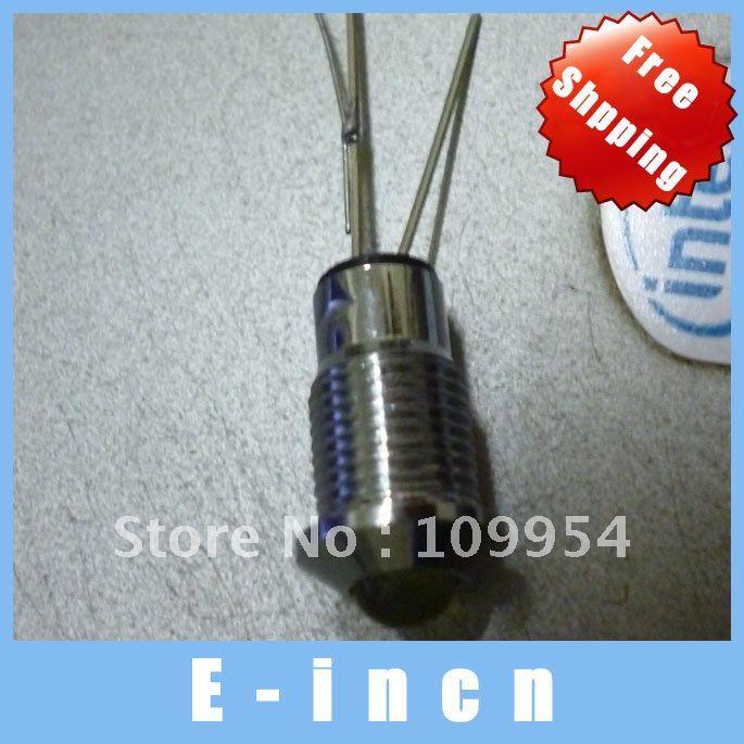 100PCS X 5mm Chrome Metal LED Bezel Holder Panel Display ,free shipping(China (Mainland))