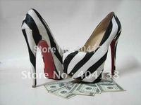 Drop shipping Wholesale Fashion Sexy high heel ladies shoes Daffodil zebra platform women's Horsehair pumps