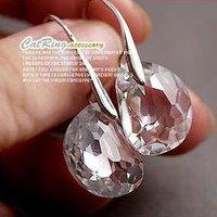 Free shipping Trendy Charm Jewelry Women Acrylic Pea Earrings Hood Eardrop C7R13