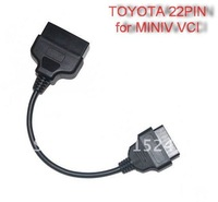 HK Post  Free OBD2 16PIN Cable to  TOYOTA 22 pin -R