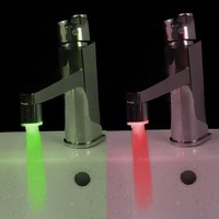 Good Feeling!New Glow LED Faucet Light  7 Colors Automatic Changing with No Battery ,Enjoy More Fun!