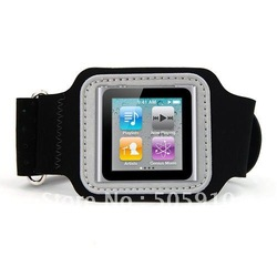 Free shipping Sport Fitness Armband Cover Case for iPod Nano 6 6th(China (Mainland))