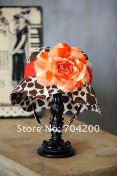 9pcs/lot-cow modeling baby flower hat/infant&toddler's beanie/sun hat/girl's sun hat cap