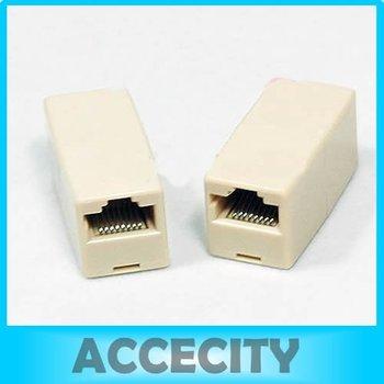 C18Free Shipping 30 Pcs/Lot RJ45 CAT5 CAT5E Network Ethernet Modular Plug Connector Adapter New
