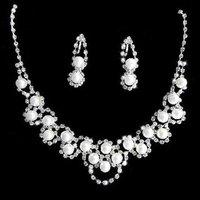 A010 Neckace earrings jewelry set  Elegant Rhinestone Crystal    Wedding Bride Party  O-QYX067-11
