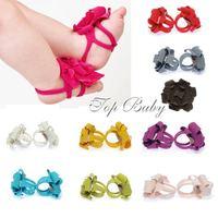 20 Pairs/lot-floral Baby Home Socks/ Novelty handmade soft sandals/Baby shoes/prewalkers/infant&Toddler's Socks