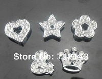 wholesale 100pcs 8mm full rhinestone mix style slide charms DIY accessories
