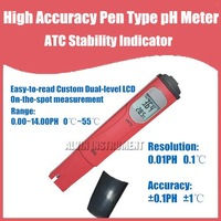 Free Shipping High Accuracy Pen type pH Meter ATC