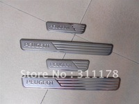 4pcs door sill Stainless steel door sill  for Peugeot 207