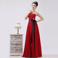 Wine Red chiffon long design toadyisms formal dress performance formal dress