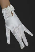 Short design white collcction gloves bridal gloves pregnantwith gloves