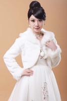 Coat thermal type fur shawl bridesmaid bride fur shawl dress