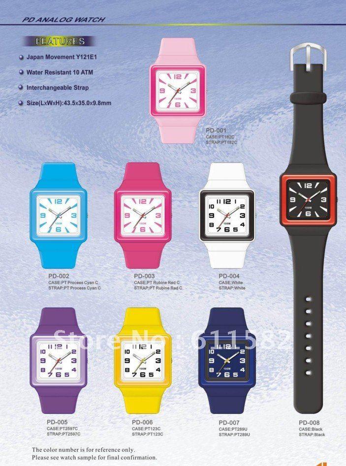 Model PD: Analog watch with Interchangeable PU strap(China (Mainland))