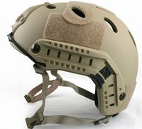 Fast Style Base Jump Helmet Navy Seal ABS Shell Tan free ship