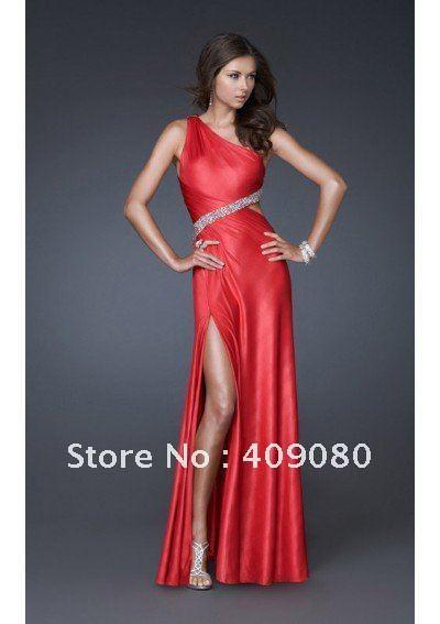 Free shipping Fashion One shoulder Sexy red Evening Dresses Elastic emulation silk Mermaid Trumpet Prom Dresses How to Get a sex change on Elder Scrolls IV: Oblivion