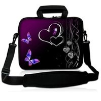 "13"" Neoprene Laptop Carrying Bag Sleeve Case Cover w/Side Pocket +Shoulder Strap For 13.3"" Apple Macbook Pro,Air,HP,DELL,ACER"