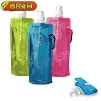 Free Shipping! Portable folding sports water bottle/foldable water bottle 480ml(16oz)(six colors) 10 pcs/lot TY087
