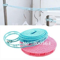 Free shipping 2pcs/lot nylon Cooling dress rope,with cell,rope Airing Clothes rope clothesline windproof antislip clothes line