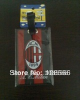 ac milan fans luggage address card /  multi-function red travel name tag