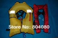SOLAS Standard Guranteed 100% Polyester  fabric Automatic  Inflatable life jackets of 150N + free shipping