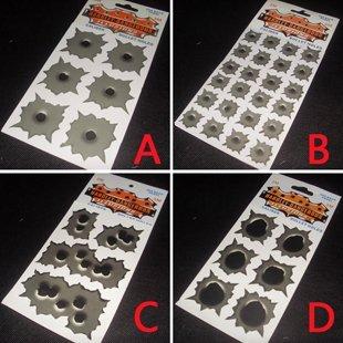 Wholesale DIY Bullet Holes Car Stickers 3M Car Accessories personalized Auto Decoration Accessories Mix Order 30pcs/lot