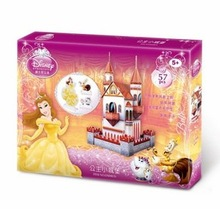 CubicFun 3D puzzle paper model Princess Castle Girl Gift children DIY toy no tools easy to assemble educational creat decoration(China (Mainland))