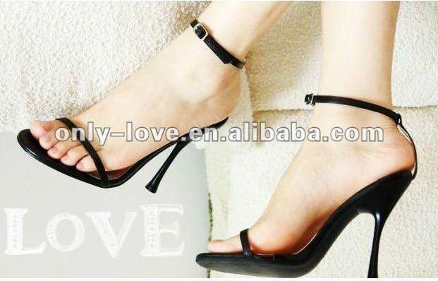 BS395 high heel ladies black evening sandals party sandal(China (Mainland))