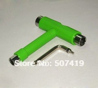 Free shipping! longboard skateboard T Bar Tool,T shape tools for skateboard,allen key T-tool,green color T tool