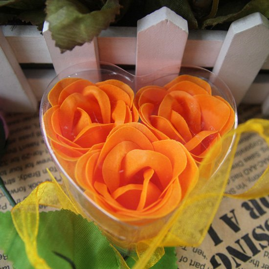 Set of 3 Rose Scented Bath Soap Petals, Handmade, NEW!!(China (Mainland))